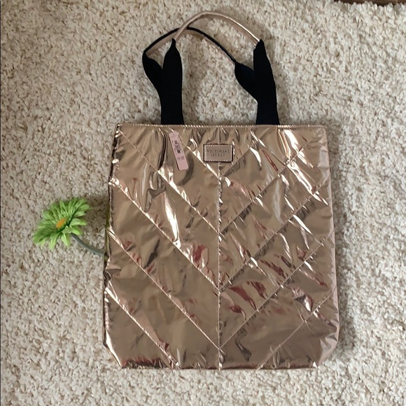 Victoria's Secret Handbags - NWT Victoria's Secret Rose Gold tote👜